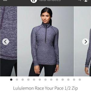 Lululemon Race Your Pace 1/2 Zip purple